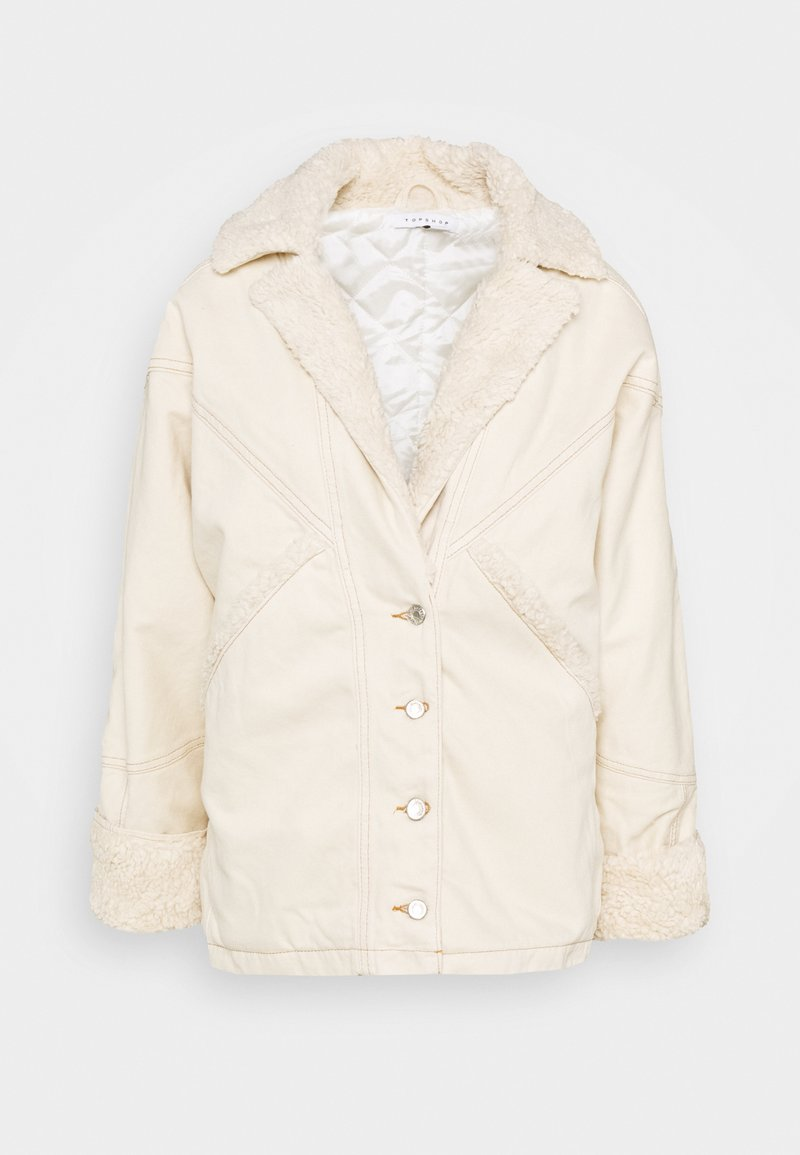 Topshop - COAT - Winter jacket - ecru