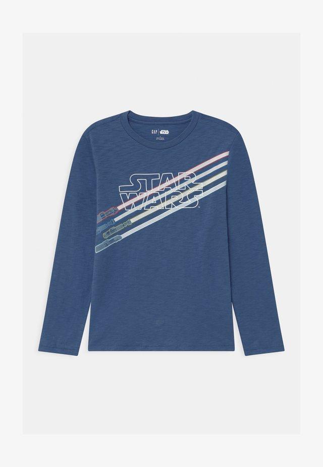 BOY STAR WARS MANDALORIAN - Long sleeved top - chrome blue