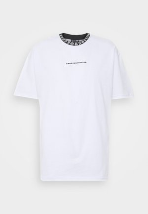 GOTHIC NECK TAPING - T-shirt con stampa - white