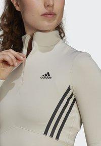 adidas Performance - CROP LONGSLEEVE - Longsleeve - beige - 3