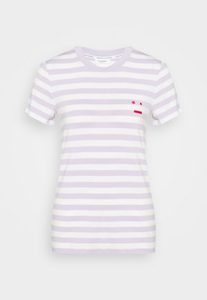 SHORT SLEEVE STRIPE - T-shirts med print - multi/syringa lilac