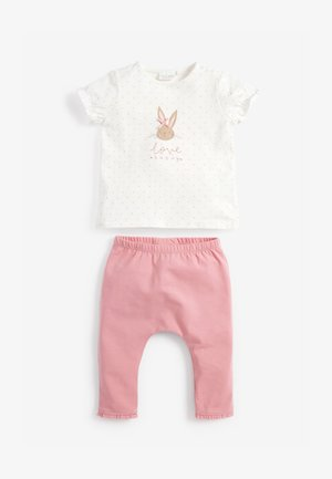 BUNNY SET - Legging - pink/off-white