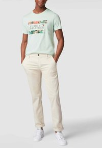 Tommy Hilfiger - MIT PRINT - Print T-shirt - helltürkis - 1