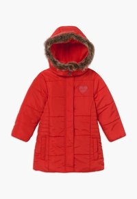 Blue Seven - KIDS FAUX FUR HOOD - Winterjas - tomate - 0