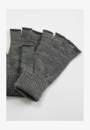 Fingerless gloves - grey
