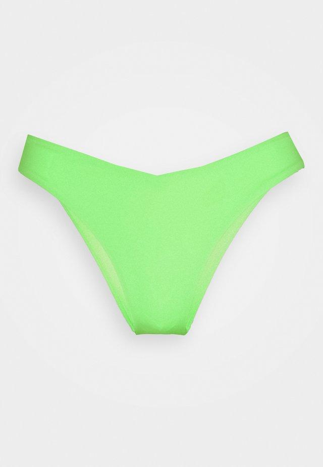 SWIM WOMEN V SHAPE BRIEF - Bikinibroekje - neon green