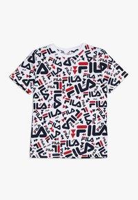 Fila - KIDS ZARA TEE - Camiseta estampada - white - 0
