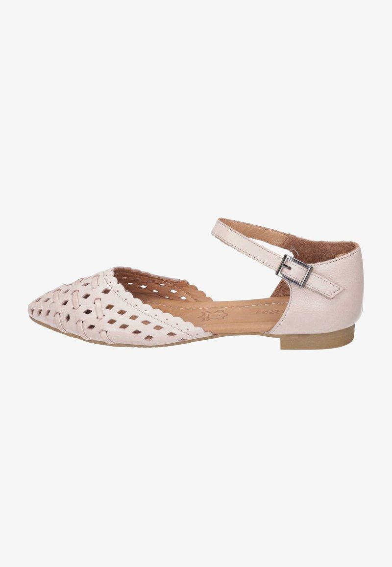 Piazza - Ankle strap ballet pumps - rosa