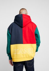 Karl Kani - COLLEGE BLOCK - Sweat à capuche - yellow/green/red/navy - 2