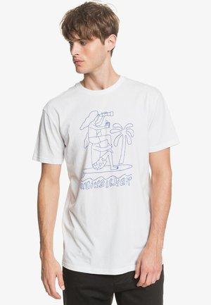 QUIKSILVER™ TURNING HEADS - T-SHIRT FÜR MÄNNER EQYZT05820 - Print T-shirt - white