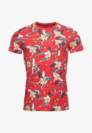 Print T-shirt - red aop