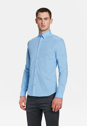 SLIM FIT STRETCH - Shirt - light blue