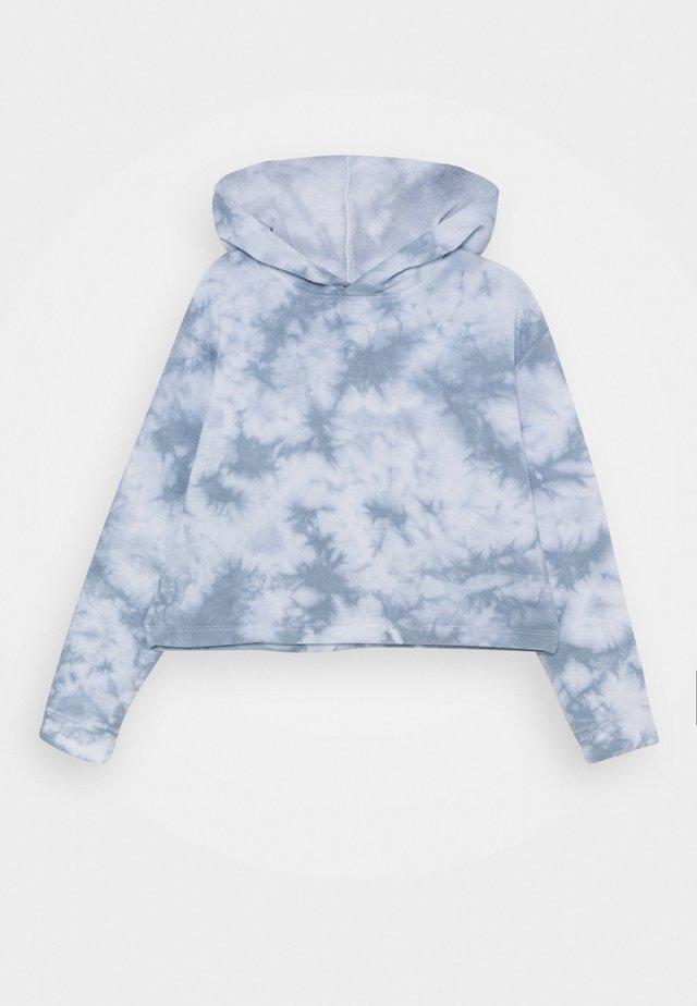 SERENA CROP HOODIE - Hættetrøjer - dusty blue