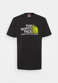 The North Face - RUST TEE  - Print T-shirt - black/white - 0