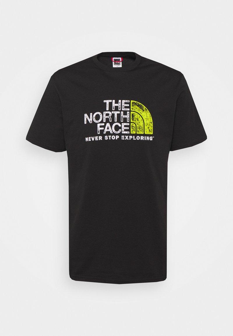 The North Face - RUST TEE  - Print T-shirt - black/white