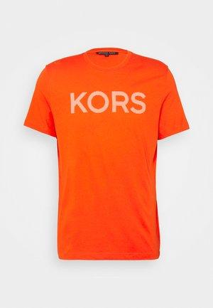 STRIPED TEE - Print T-shirt - tangerine