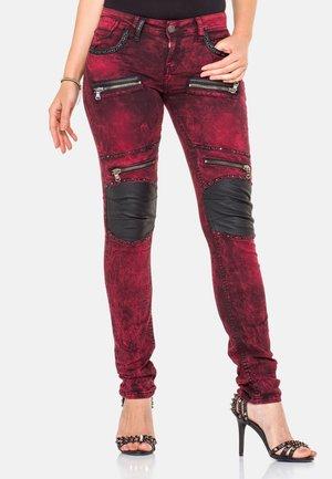 Slim fit jeans - burgundy