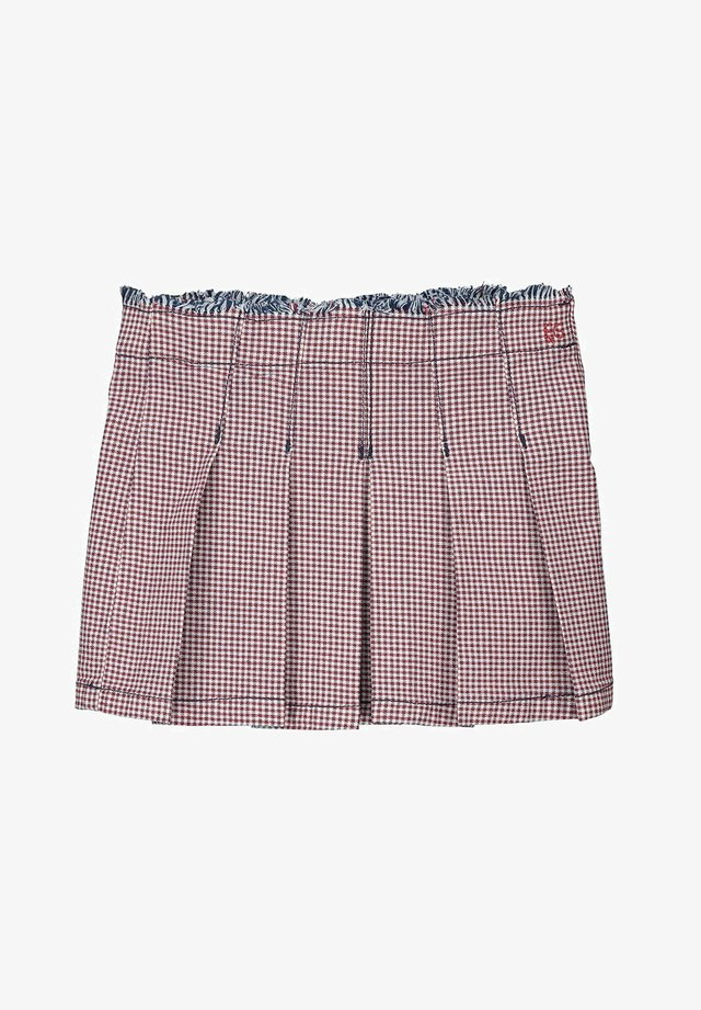 A-line skirt - red/blue