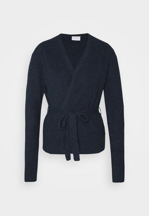 VISURIL BELT  - Cardigan - navy blazer