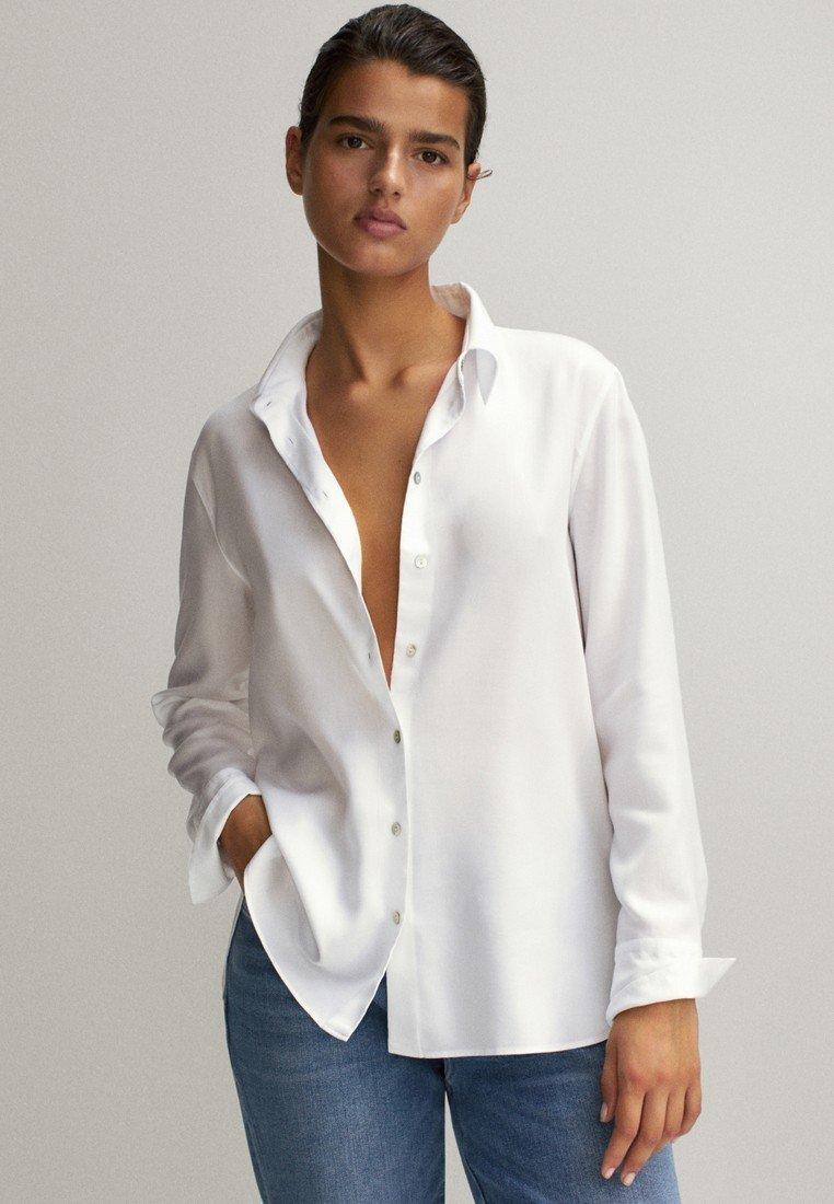 Massimo Dutti Overhemdblouse - white - Dameskleding Klassiek