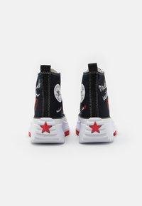 Converse - RUN STAR HIKE - High-top trainers - black/white/university red - 4