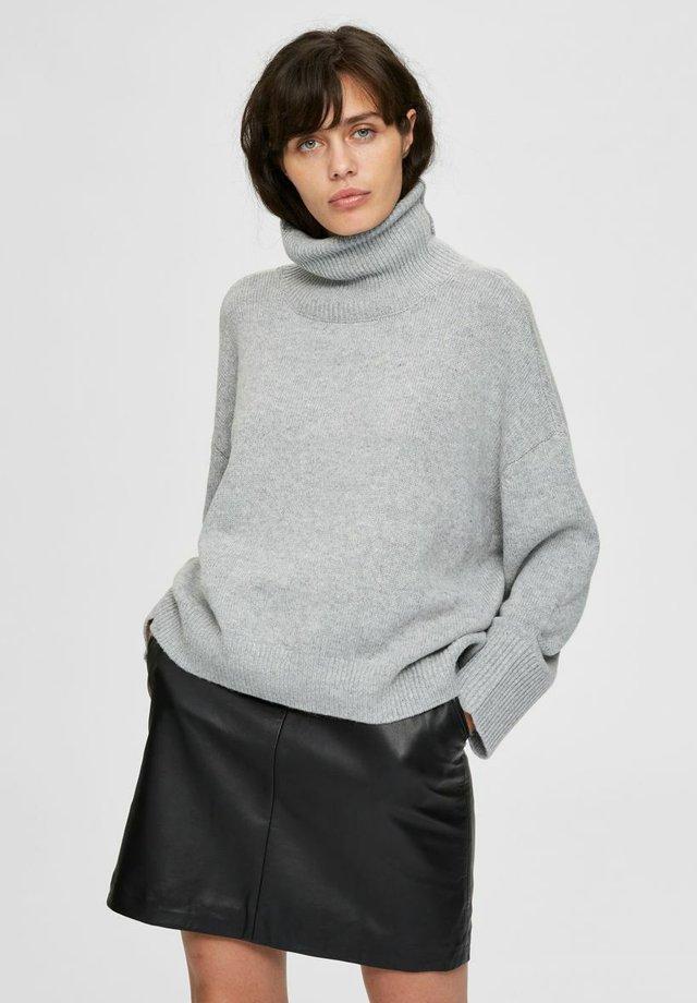 SLFMINO BOXY - Jersey de punto - light grey melange