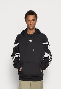 adidas Originals - SHARK HOODIE - Felpa - black/grey one - 0