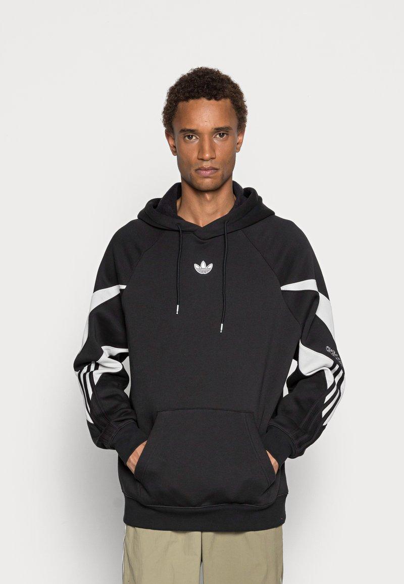 adidas Originals - SHARK HOODIE - Felpa - black/grey one