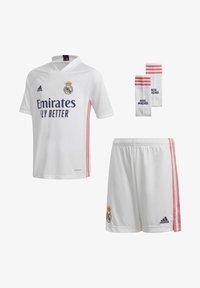 adidas Performance - REAL MADRID AEROREADY MINIKIT - Club wear - white - 0