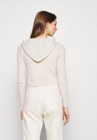 BDG Urban Outfitters - CROPPED ZIP HOODIE - Zip-up sweatshirt - ecru - 2