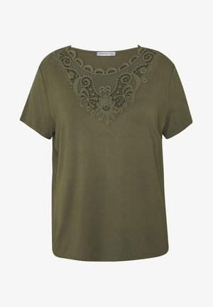 T-shirts med print - olive night