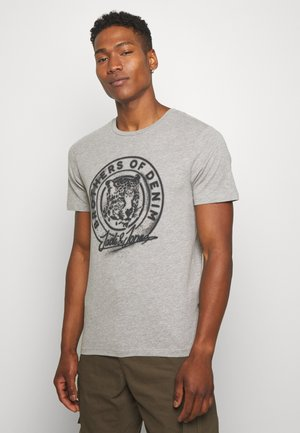 JORSOLEX CREW NECK - Print T-shirt - light grey