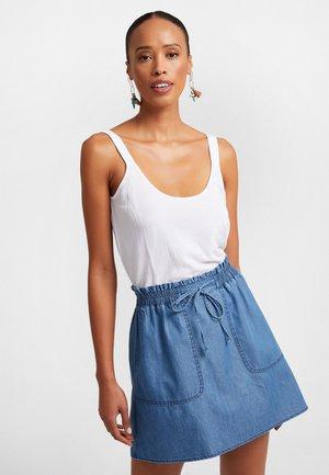 MIT ELASTISCHEM BUND - A-line skirt - hellblau