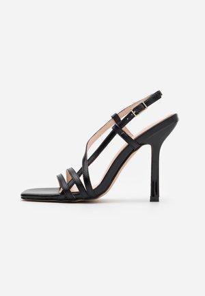 BEKKIE - Sandaler med høye hæler - black