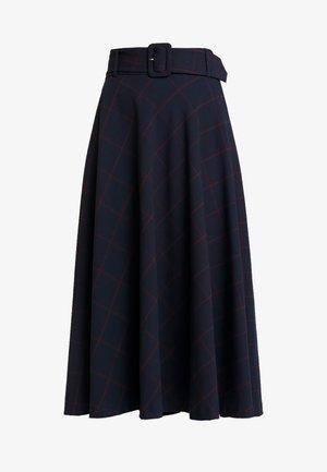 SKIRT MIDI - Áčková sukně - marine/multicolor
