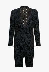 Twisted Tailor - KATRIN SUIT FLORAL FLOCK - Completo - charcoal - 9