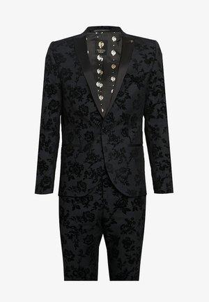 KATRIN SUIT FLORAL FLOCK - Costume - charcoal