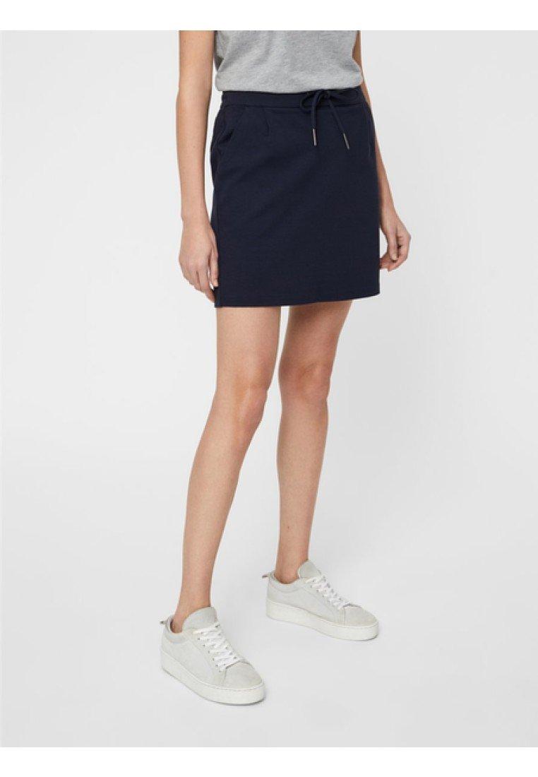Vero Moda - VMEVA SHORT SKIRT NOOS - A-line skirt - dark blue