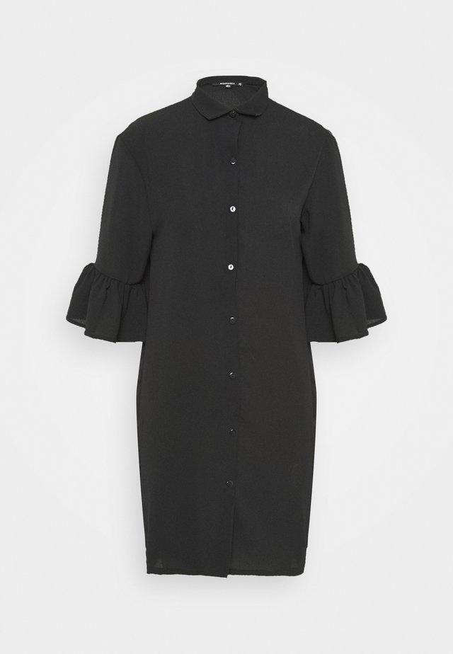 FRILL CUFF DRESS - Robe chemise - black