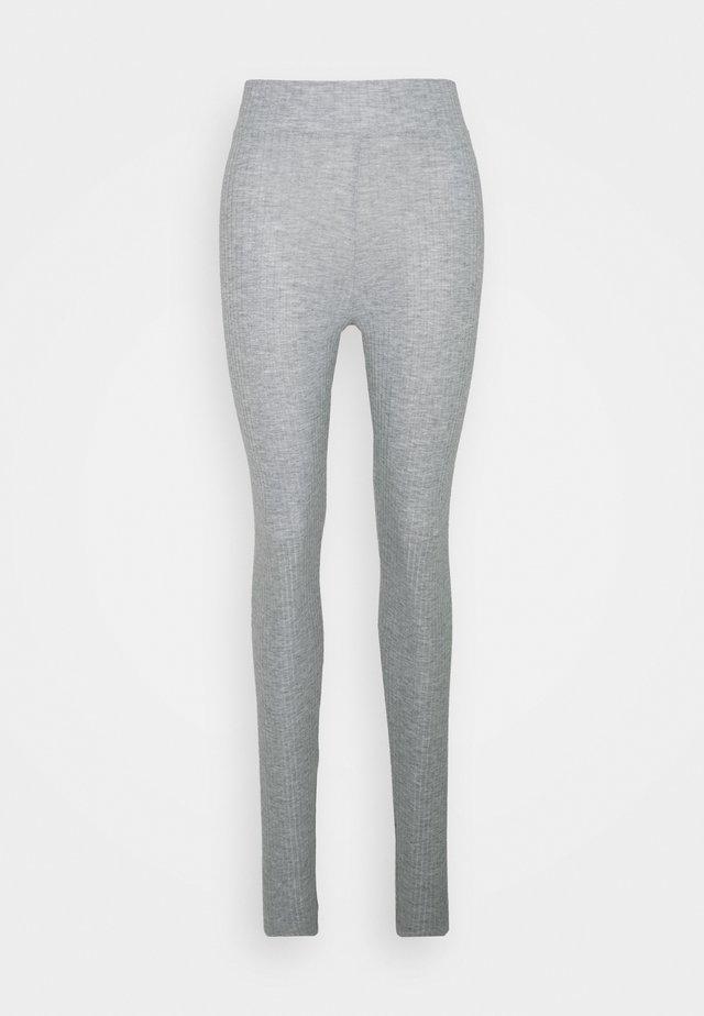 PCRIBBI LEGGINGS TALL - Leggings - Trousers - light grey melange