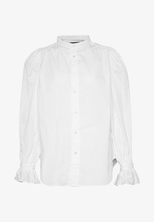 GRECHN LONG SLEEVE - Button-down blouse - white