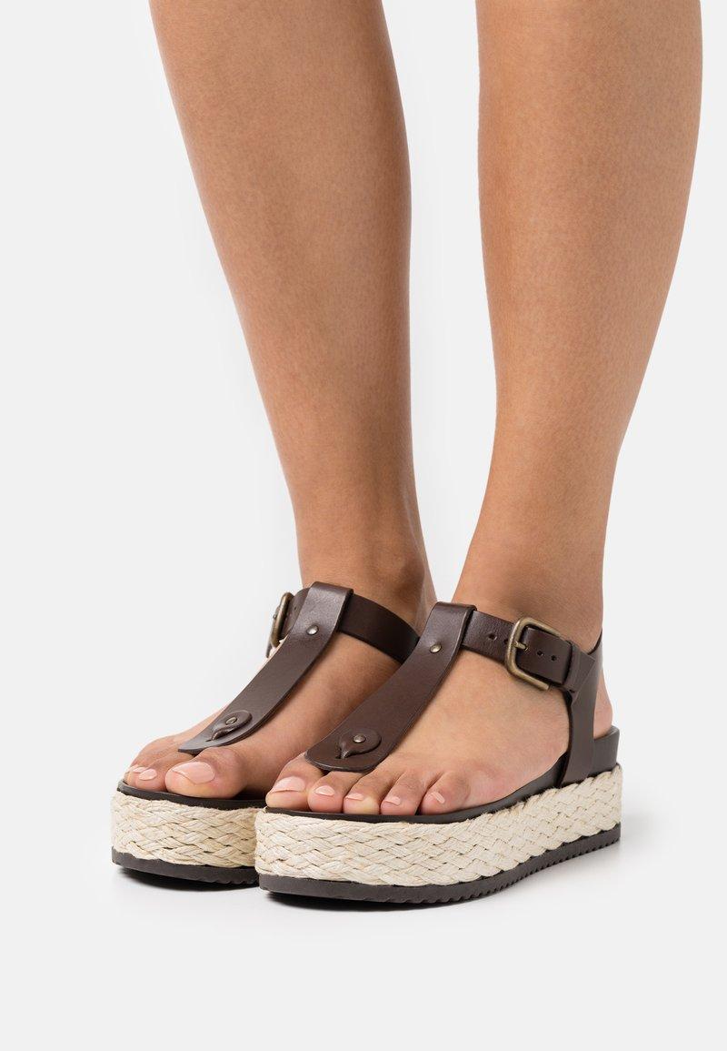 Marc O'Polo - ILARIA - T-bar sandals - dark brown