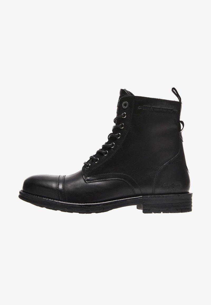 Pepe Jeans - TOM CUT PREMIUM - Šněrovací kotníkové boty - black