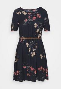 Vero Moda Petite - VMANNIE BELT SHORT DRESS PETITE - Day dress - night sky - 3