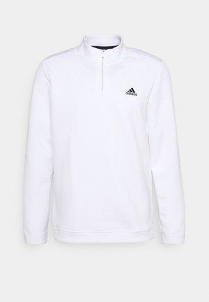 1/4 ZIP - Longsleeve - white