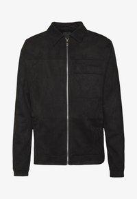 UTLITY - Imitatieleren jas - black