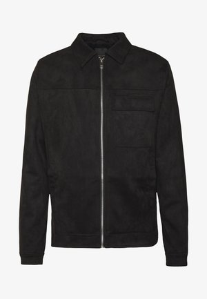 UTLITY - Faux leather jacket - black