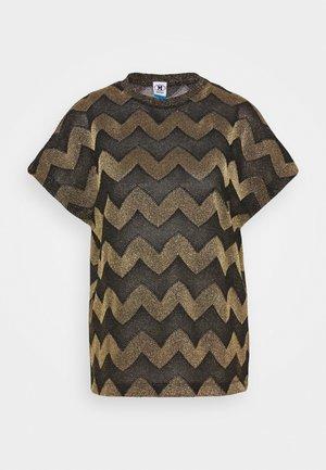 BLUSA - Print T-shirt - black / gold