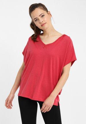 T-shirt - bas - dark red