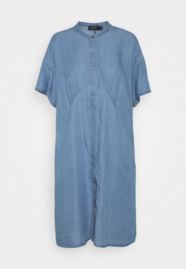 DALIA DRESS - Sukienka jeansowa - light blue denim